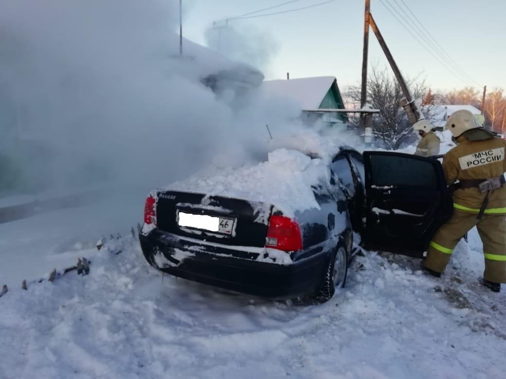 Пожар в Курском районе  ликвидирован 15.02.2021