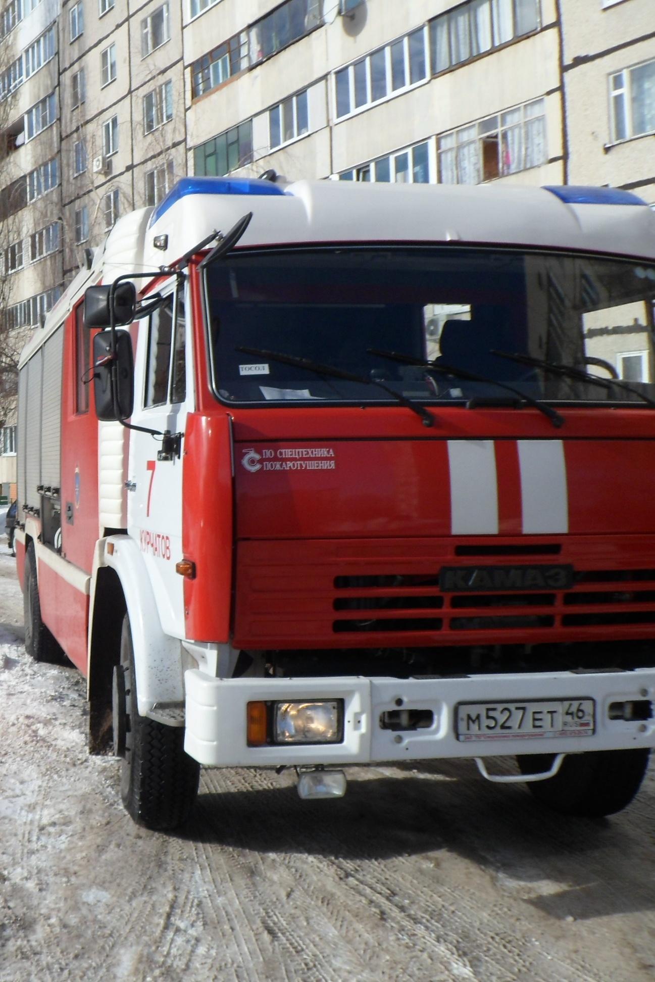 Пожар на ул. Мира в г. Курчатов  Курской области ликвидирован