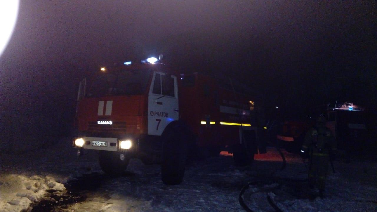 Пожар в Курчатовском районе 15.01.2021