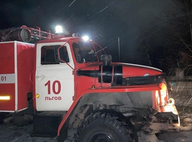 Пожар в с. Густомой Льговского района