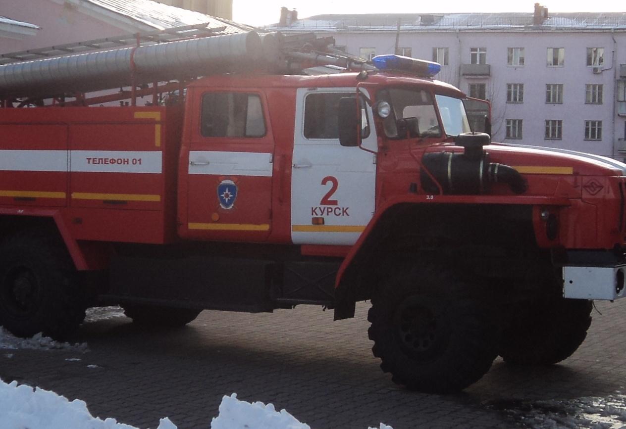 Пожар на улице Радищева в г. Курск