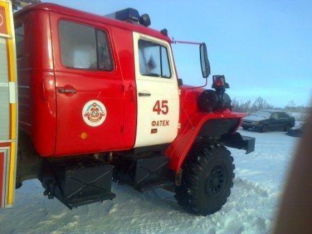 Пожар в д. Ясенок Фатежского района