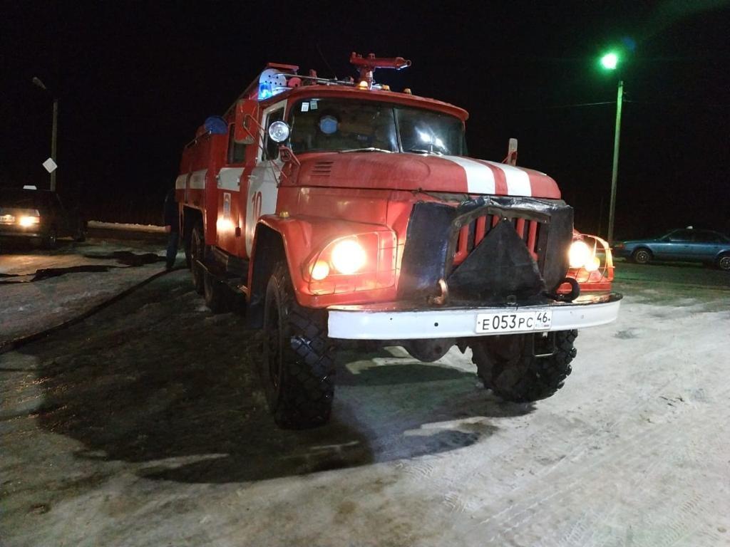 Пожар на ул. Красная в г. Льгов