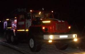 Пожар на улице Орджоникидзе в г. Курск