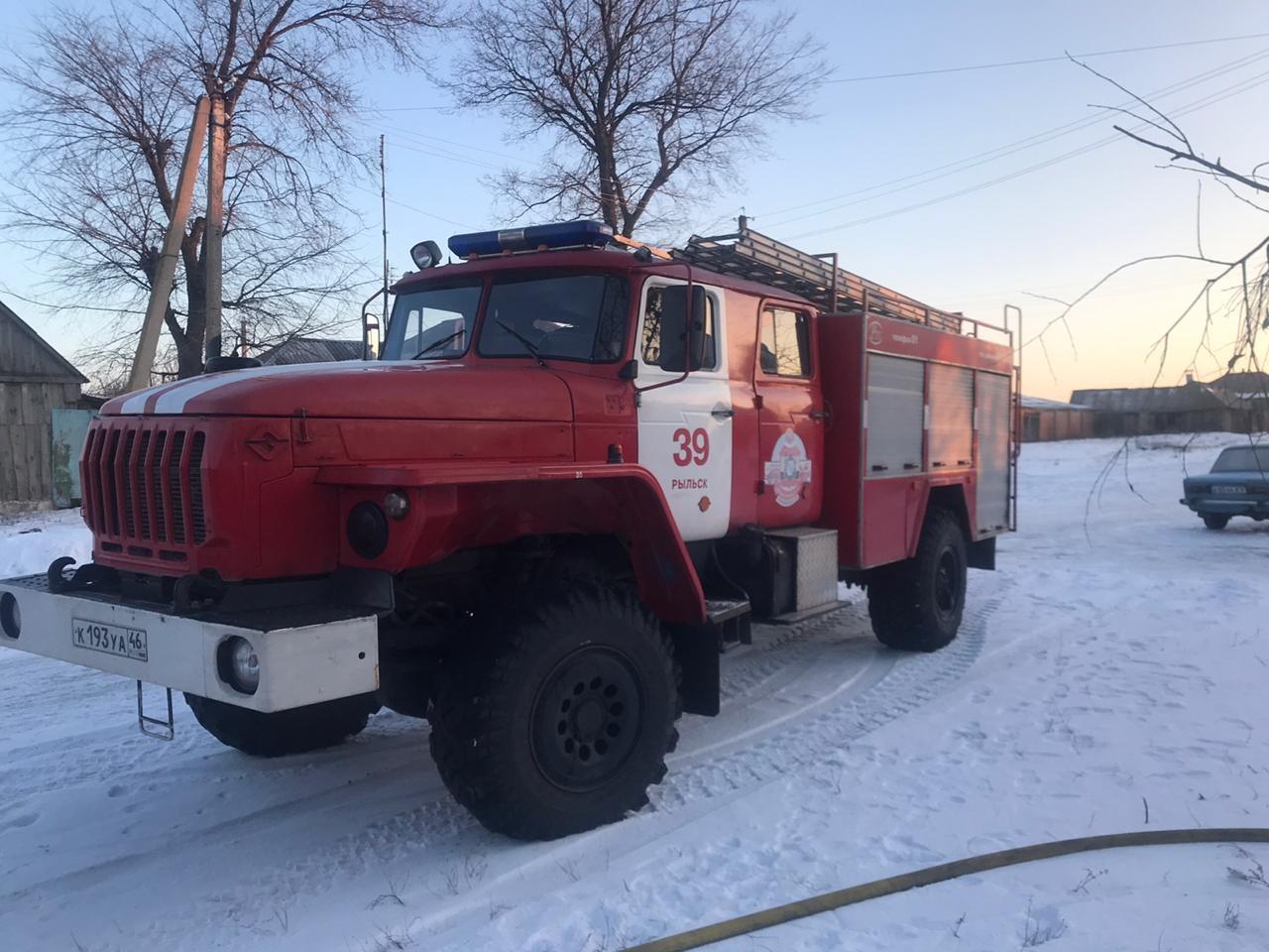 Пожар в с. Октябрьское Рыльского района