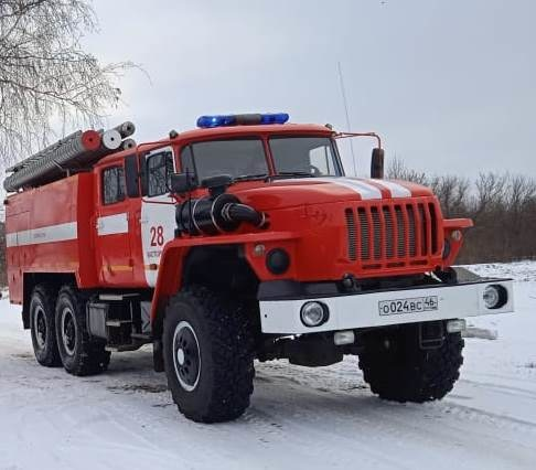 Пожар в с. Орехово Касторенского района