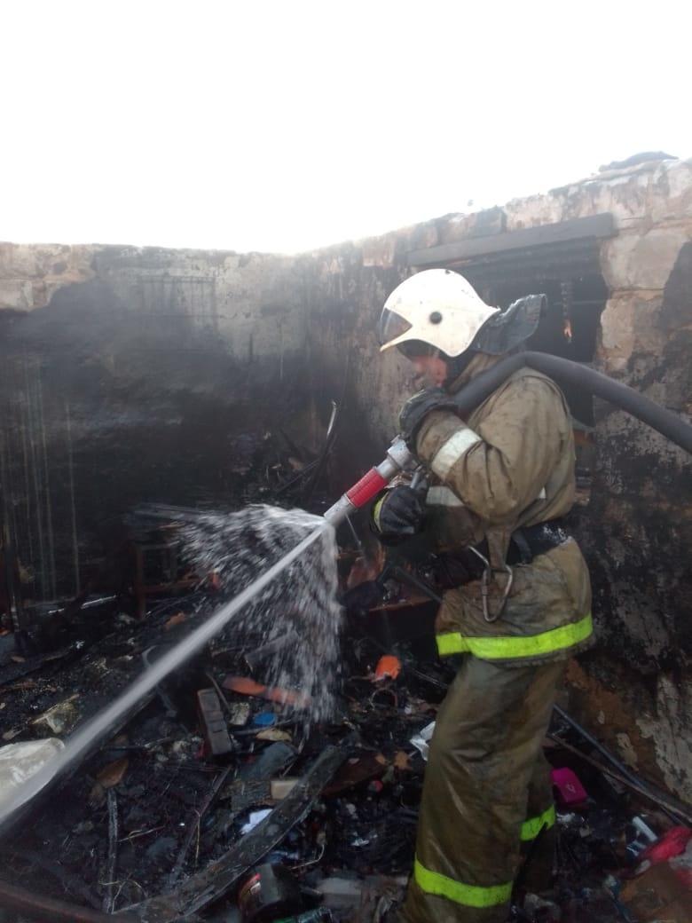 Пожар в Медвенском районе ликвидирован 19.02.2021