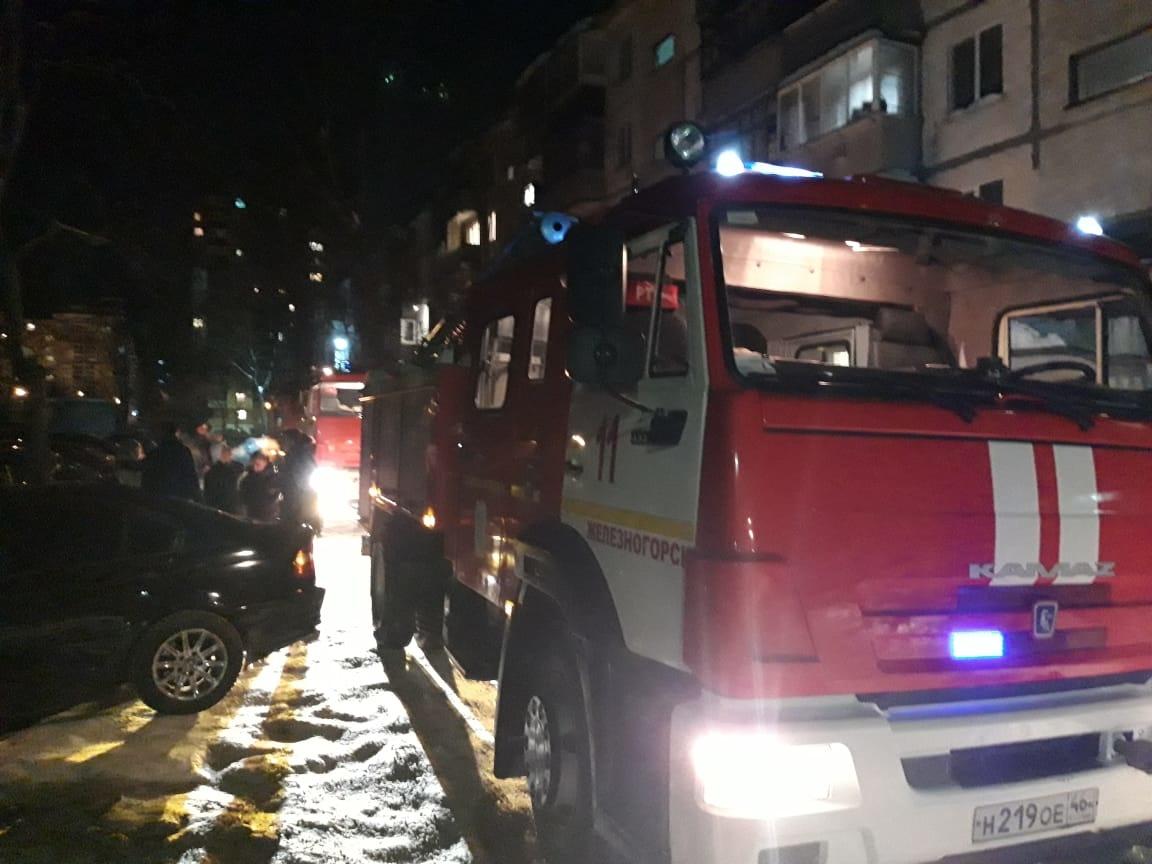 Пожар в г. Железногорске 19.02.2021