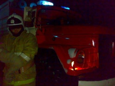 Пожар на улице Пушкина в городе Дмитриев Курской области