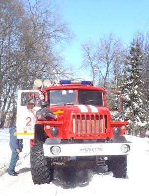 Пожар на ул. Спортивная в г. Курск