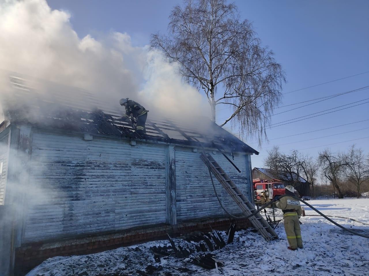 Пожар в с. Марица Льговского района Курской области ликвидирован