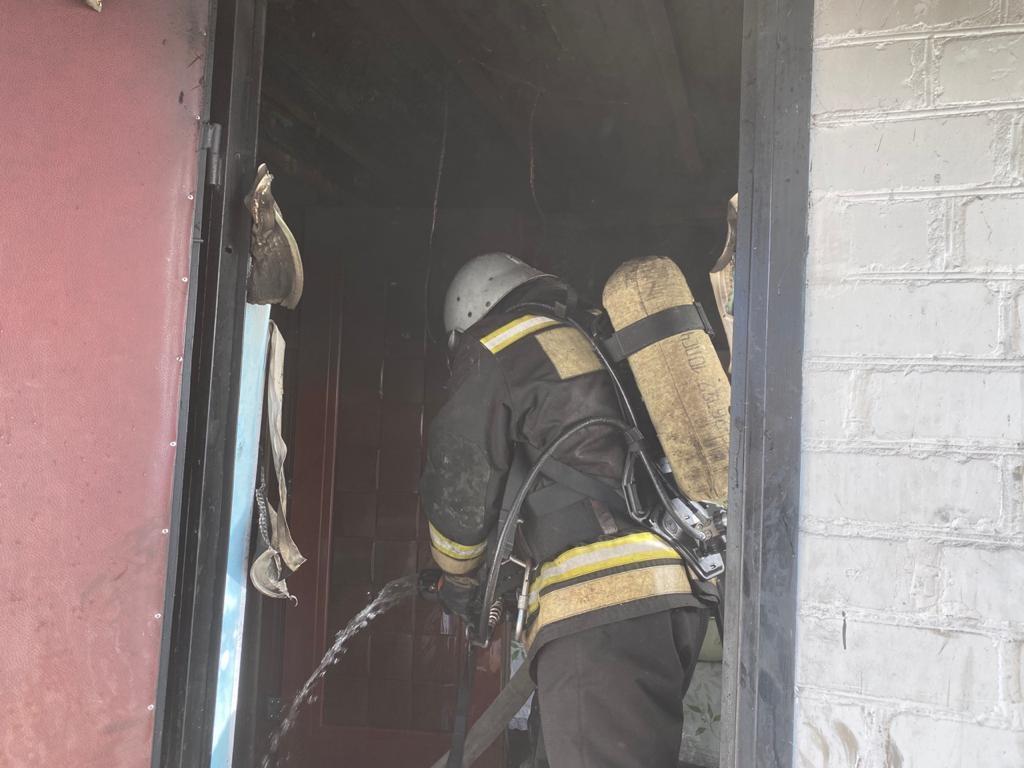 Пожар на ул. Изумрудная в г. Льгов Курской области ликвидирован
