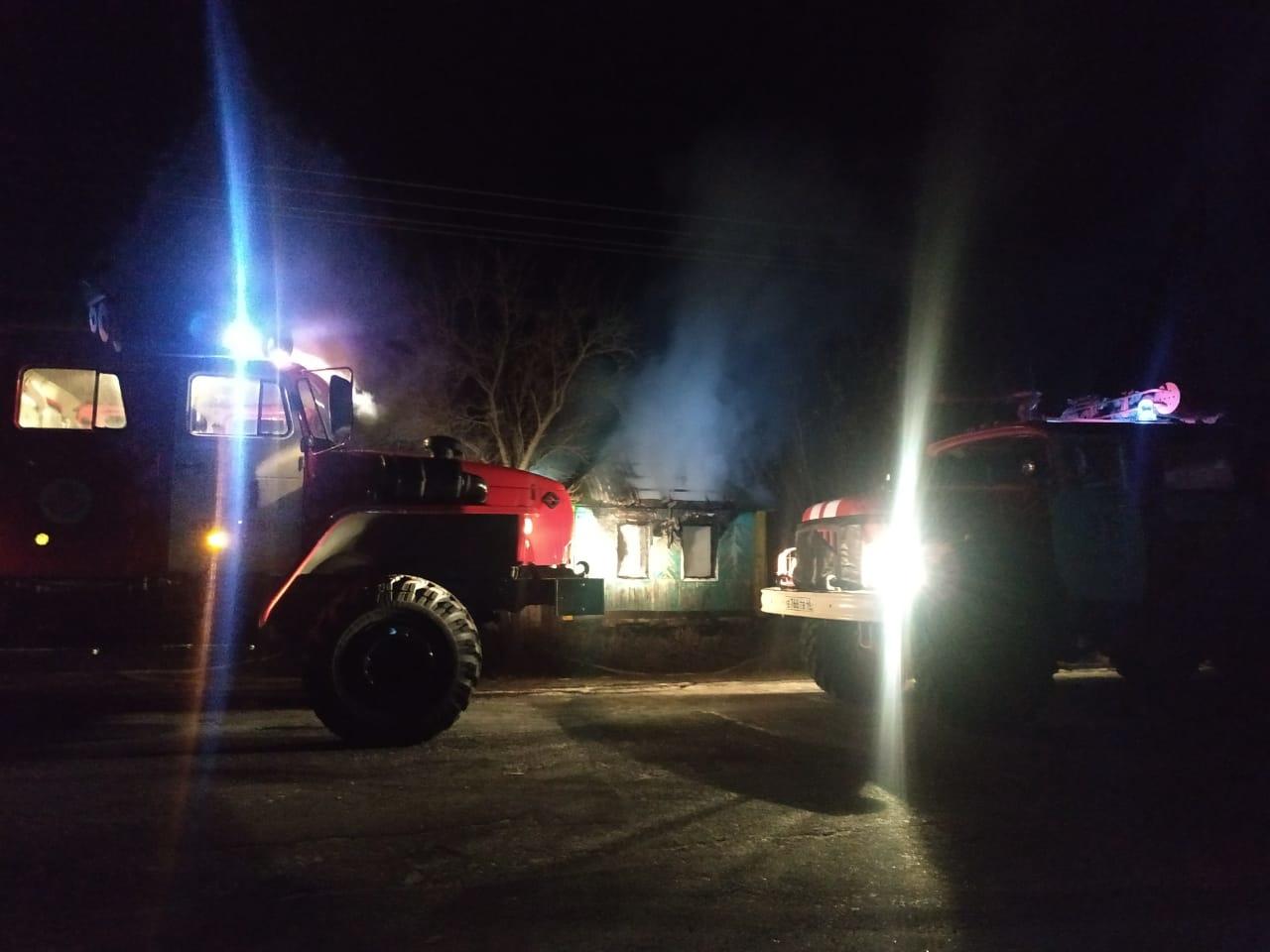 Пожар в с. Любимовка Кореневского района