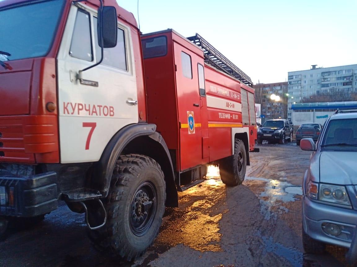 Пожар на ул. Садовая в г. Курчатове