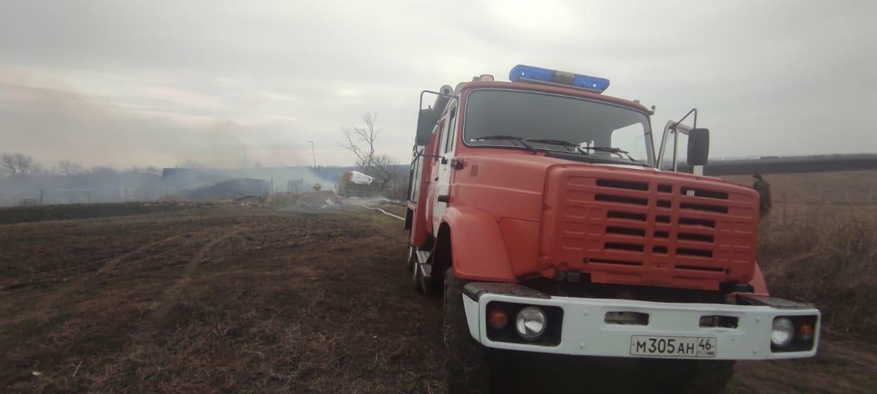 Пожар в Медвенском районе 31.03.2021