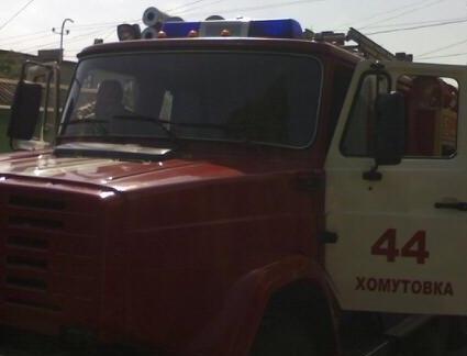 Пожар в д. Малеевка Хомутовского района