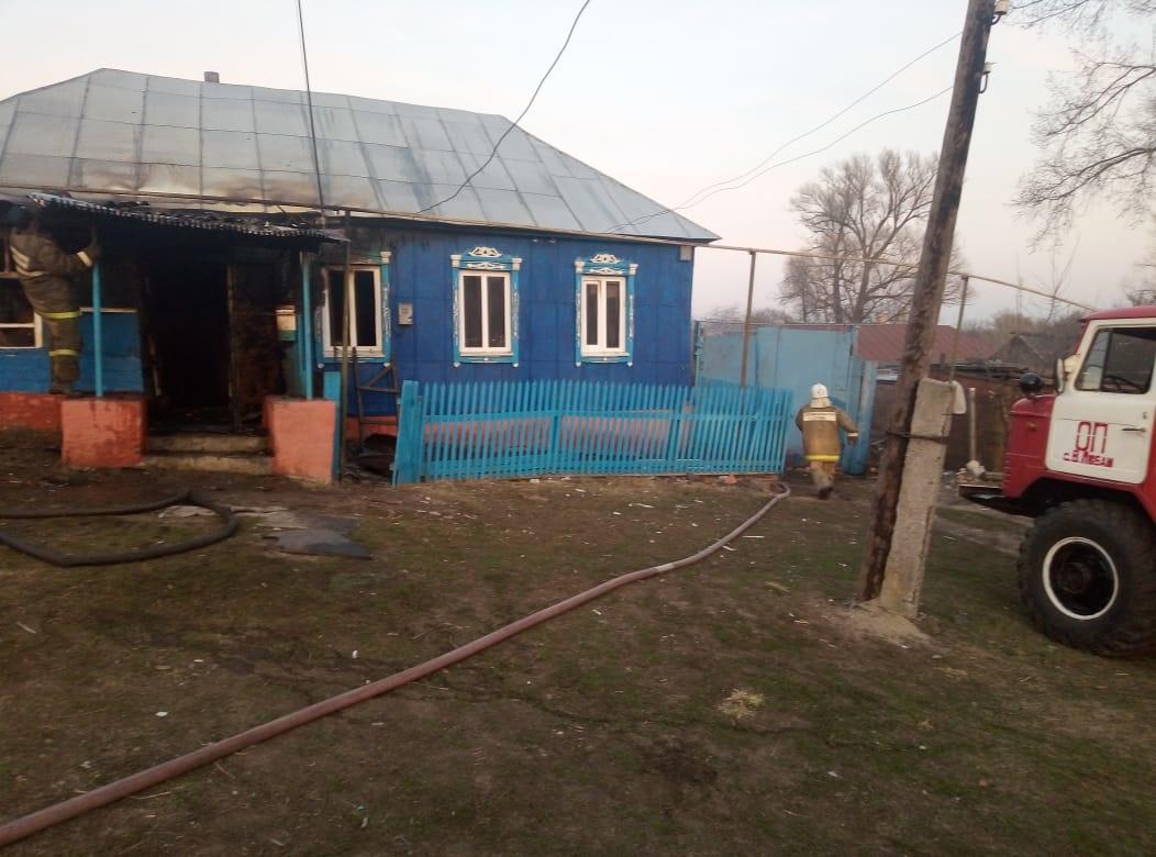 Пожар в д. Басовка Фатежского района Курской области ликвидирован