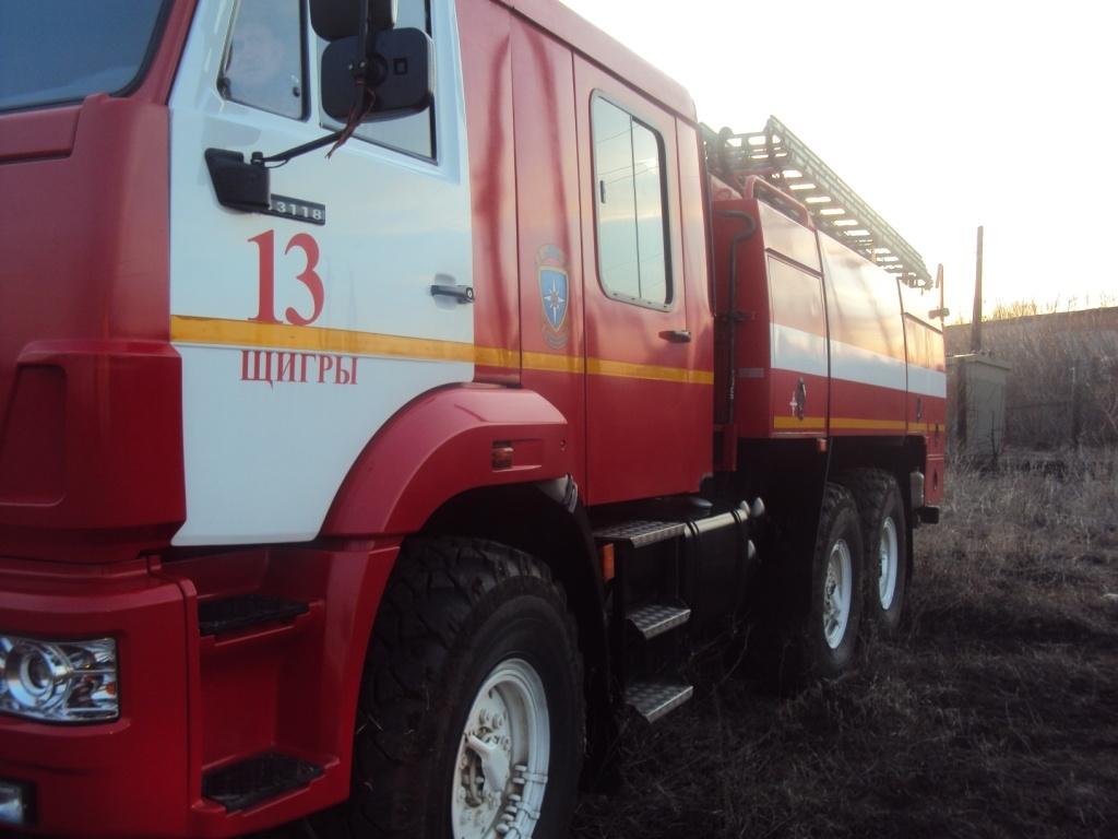 Пожар вблизи села Охочевка Щигровского района