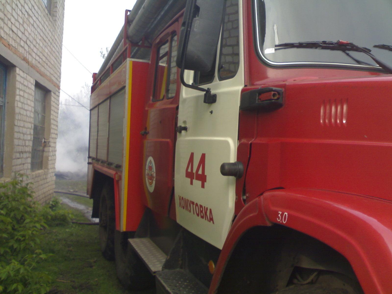 Пожар в Хомутовском районе 22.06.2021