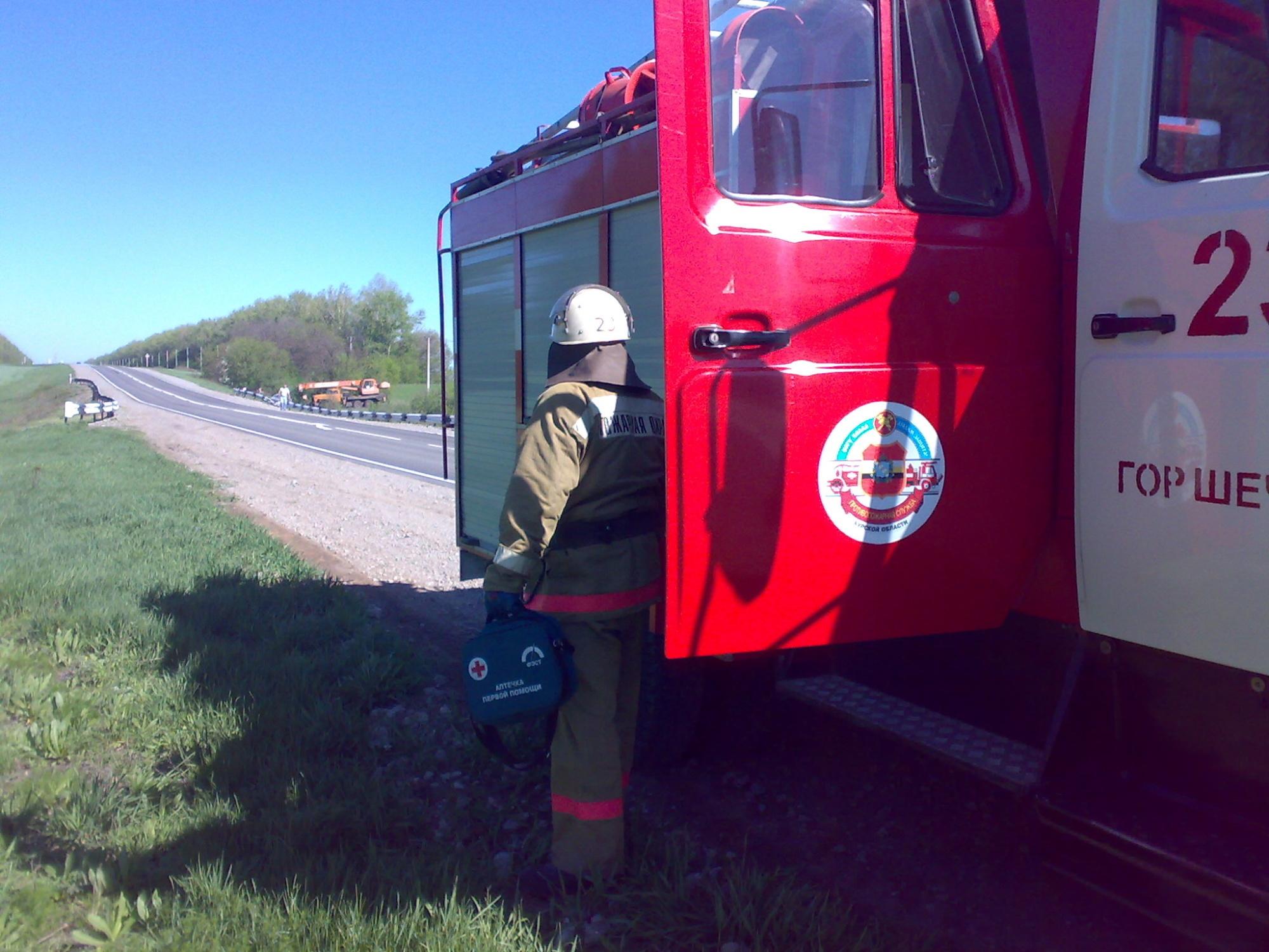Пожар в с. Сосновка Горшеченского района