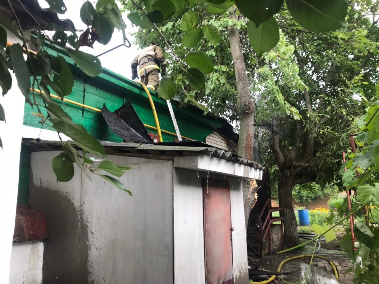 Пожар на улице Урицкого в г. Рыльск Курской области ликвидирован